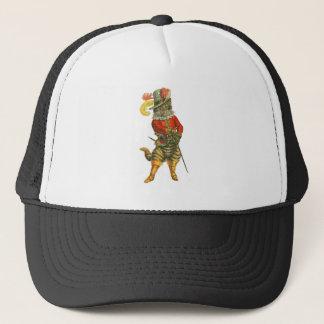Chat dans les bottes casquette