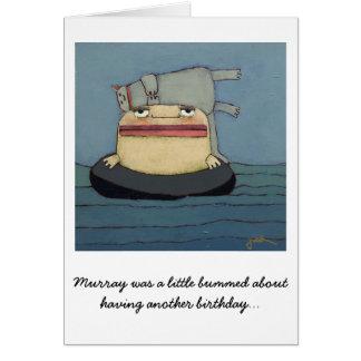 Chat de carte d'anniversaire