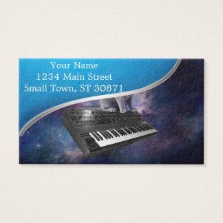 chat de clavier - musique de chat - espacez le cartes de visite