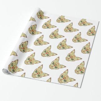 Chat de crâne de sucre - conception de tatouage papier cadeau
