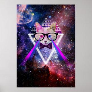 Chat de galaxie de hippie