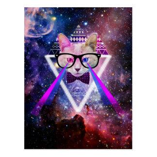 Chat de galaxie de hippie cartes postales