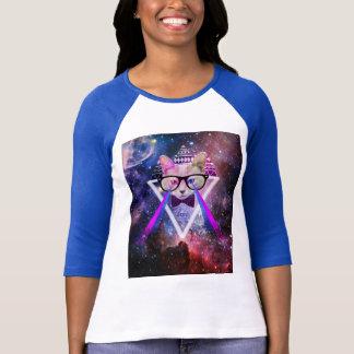 Chat de galaxie de hippie t-shirt