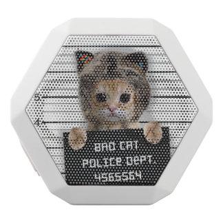 chat de photo - chat fou - minou - félin haut-parleurs blancs sans-fils