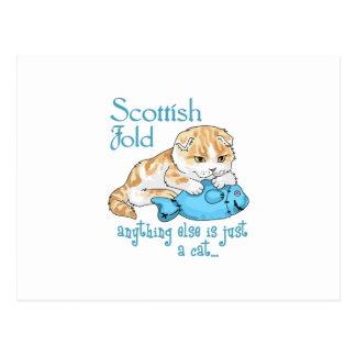 Chat de pli d'écossais carte postale