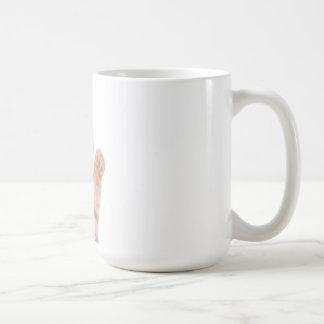 chat de sourire avec des écouteurs mug
