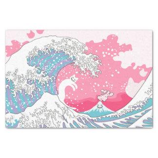 Chat de surfer de Psychodelic Bubblegum Kunagawa Papier Mousseline