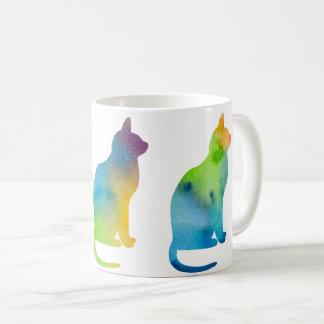 Chat de trois aquarelles mug