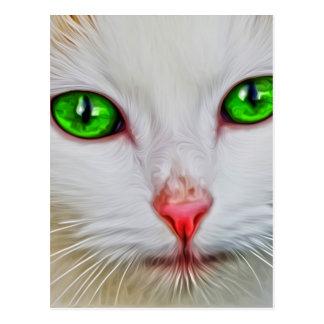 Chat de yeux verts cartes postales