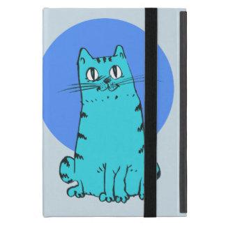 chat doux reposant la bande dessinée drôle coque iPad mini