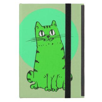chat doux reposant la bande dessinée drôle étui iPad mini