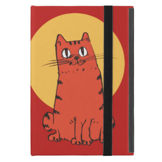 chat doux reposant la bande dessinée drôle protection iPad mini