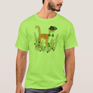 Chat du jour de St Patrick T-shirt