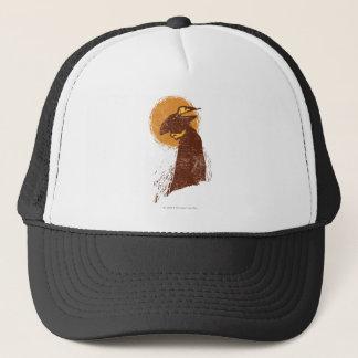 Chat en silhouette de bottes casquette