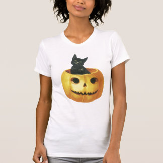 Chat et Jack-o'-lantern de Halloween T-shirt
