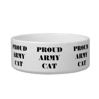 Chat fier d'armée de cuvette d'animal familier bols pour chat