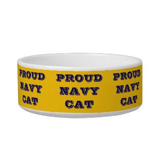 Chat fier de marine de cuvette d'animal familier assiette pour chat