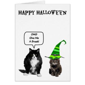 Chat grincheux de Halloween et cartes mignonnes de