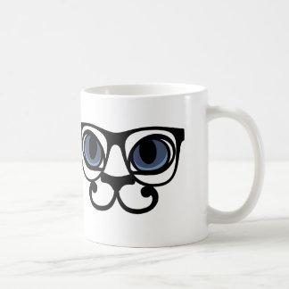 chat lentilles hipster mug
