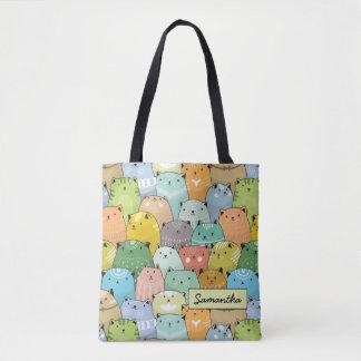 Chat mignon superbe de Personilized Tote Bag