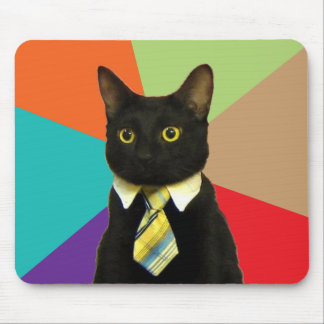 Chat Mousepad Meme d'affaires Tapis De Souris
