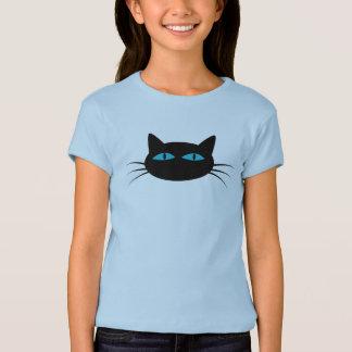 Chat noir aux yeux bleus t-shirt