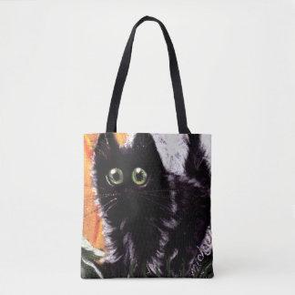 Chat noir de Halloween qui sac de chat de Dat
