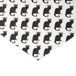 Chat noir de Nouveau d'art français - papier de Papier Mousseline