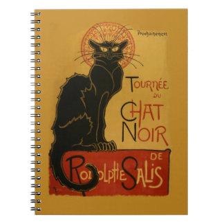 Chat noir de Tournee de Chat Noir Carnet À Spirale