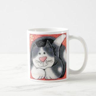 chat noir et blanc mug