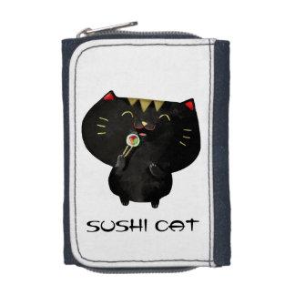 Chat noir mignon de sushi de Kawaii