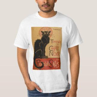 Chat noir vintage d'Art Nouveau Le Chat Noir Tshirts