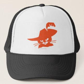 Chat orange casquette