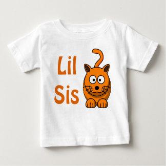 Chat orange mignon de grand de Lil de soeur enfant T-shirt Pour Bébé