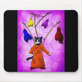 Chat principal de marionnette tapis de souris