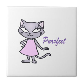 Chat Purrfect Carreaux