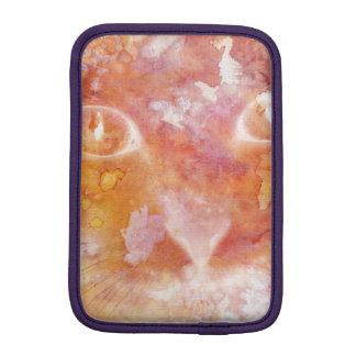 Chat Rouge-orange abstrait d'aquarelle Housses iPad Mini