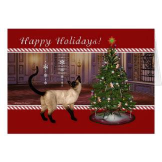 Chat siamois - de carte vétérinaire de vacances