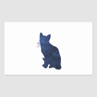 Chat Sticker Rectangulaire