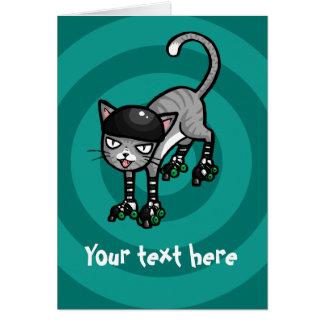 Chat tigré argenté sur le modèle personnalisable carte