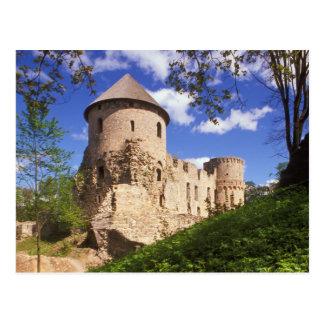 Château de Cesis en Lettonie centrale Carte Postale
