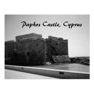 Château de Paphos, carte postale de la Chypre