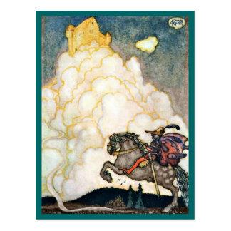 Château des nuages attrayants carte postale