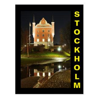 Château médiéval à Stockholm, Suède Carte Postale
