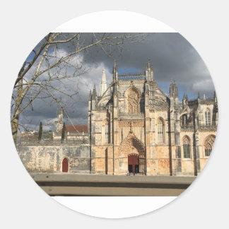 Château portugais sticker rond