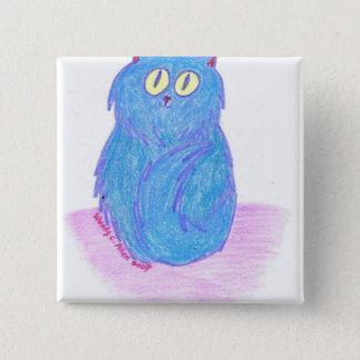 Chaton de myrtille badge carré 5 cm