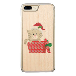 Chaton de Père Noël Coque Carved Pour iPhone 7 Plus