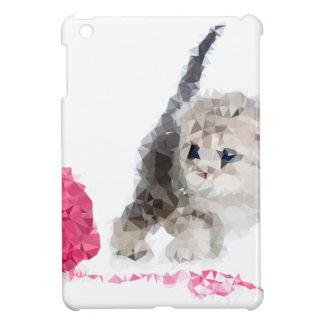 Chaton drôle adorable Low Poly mignon Étuis iPad Mini