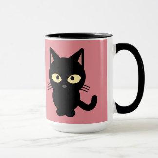 Chaton noir mug