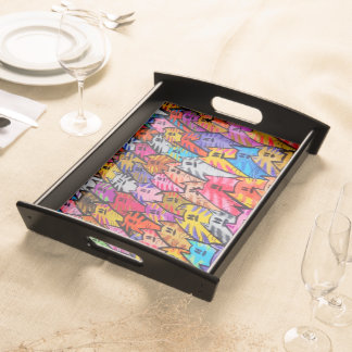 Chats 05 - Cats 05 - Serving Tray - Plateau